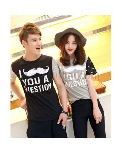Matching Design Love Moustache Couples T-shirts for 2