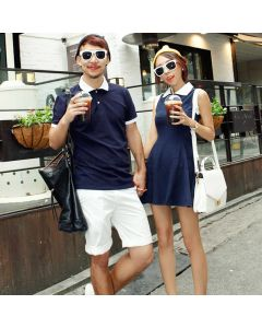 Plain Color Matching Tshirts for Girlfriend and Boyfriend