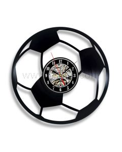 Decorative Vinyl Record Clock Gift for Football Lovers