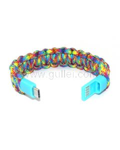 USB Cable Paracord Bracelet Gift for Camping Lover