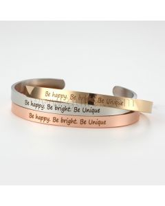 Inspirational Cuff Bracelet Gift for Him or Her