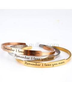 Personalized Cuff Bracelet Birthday Gift for Mom