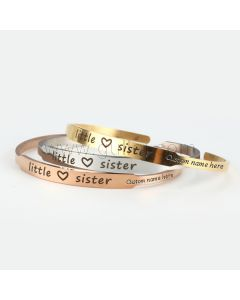 Personalized Cuff Bracelet Gift for Sister