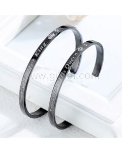 His Queen Her King Couples Cuff Bracelets Set