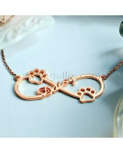 Infinity Custom Name Necklace Xmas Gift for Her