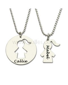 Mother Daughter Necklace Xmas Gift Set