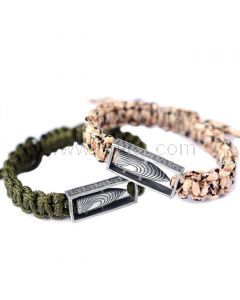 Matching His and Hers Bullets Couple Bracelets