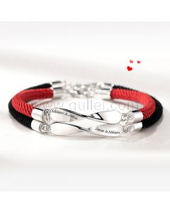 Engraved Infinity Sign Couple Bracelets Christmas Gift