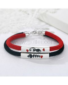 Cat and Fish Couple Bracelets Promise Gift