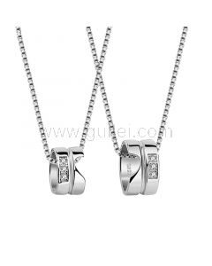 Personalized Matching Couple Necklaces Set for 2