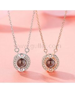 Love Light Projection Friendship Necklaces for 2