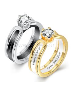 Engraved Matching Bff Rings Set for 2