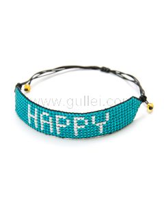 Happy Friendship Seed Bead Bracelet Gift for Her