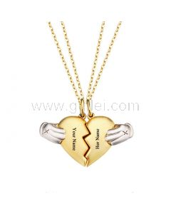 Magnetic Half Hearts Couple Necklaces Gift for Boyfriend Girlfriend