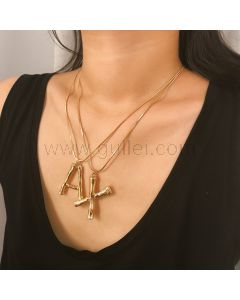Large Name Initial Popular Necklace