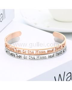 I Love you to the Moon and Back Cuff Bracelet Gift