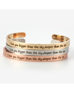 Personalized Promise Cuff Bracelet for Girlfriend