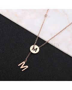 Custom Initial Necklace Anniversary Gift for Her