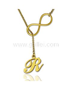 Infinity Name Initial Necklace Gift for Her
