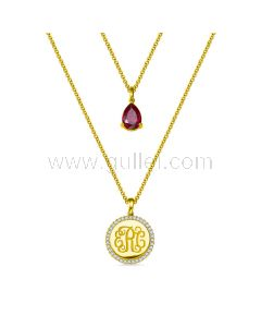 Monogram Necklace Birthday Gift for Her