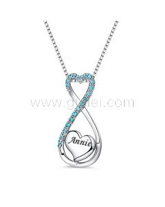 Heart Infinity Name Necklace Gift for Her