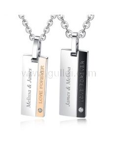 Love Forever Couple Necklaces for Girlfriend Boyfriend