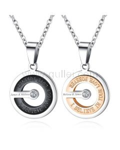 Matching Couple Necklaces Anniversary Gift