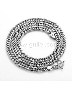Mens Chain Necklace Sterling Silver Birthday Gift