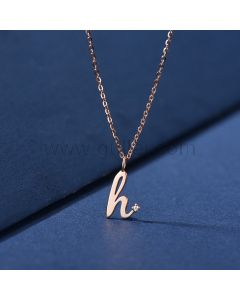 Custom Name Initial Dainty Necklace
