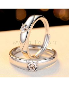 Customized Sterling Silver Wedding Bands Set