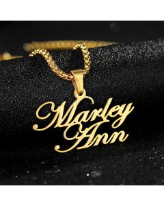 Two Names Artistic Name Necklace