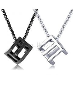 Matching Engraved Couple Necklaces Set for 2