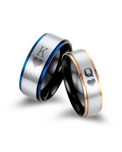 King and Queen Promise Rings for Him and Her