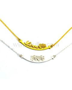 Smiley Style Custom Name Necklace for Her