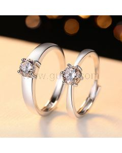 3 Carats Diamond Engagement Rings for Him and Her