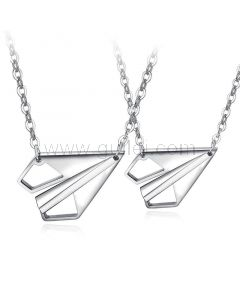 Paper Plane Couple Relationship Necklaces Gift
