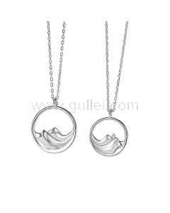 Mountains and Sea Promise Bff Necklaces Gift