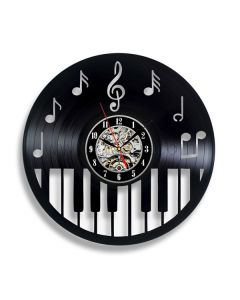 Pianist Gift for Him or Her Vinyl Record Clock