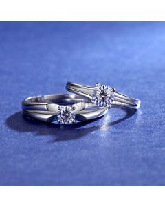 0.8 Carat Diamond Promise Rings Set for Two
