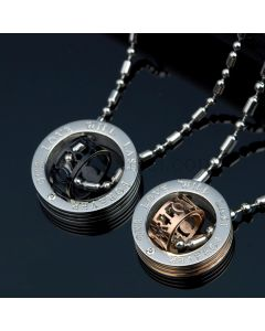 His and Hers Couples Pendants Jewelry Set for 2