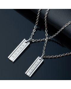 Engraved Matching Couple Name Pendants Gifts Set
