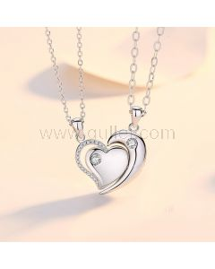 Half Hearts Magnetic Promise Necklaces Set for 2