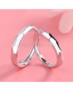 Engraved Distance Relationship Promise Rings Set