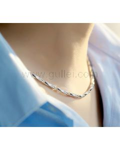 Mens Stylish Chain Necklace Sterling Silver