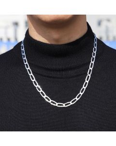 Mens Sterling Silver Chain Necklace 57cm