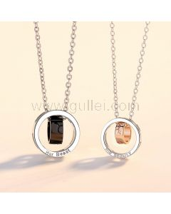 His Beauty Her Beast Promise Necklaces Anniversary Gift