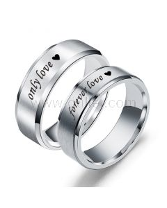 Forever Love Couple Wedding Bands for Two