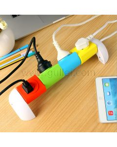 360° Rotating Sockets Multi-Port Power Outlet Creative Gadget