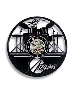 Unique Gift for Drummer Vinyl Record Wall Clock