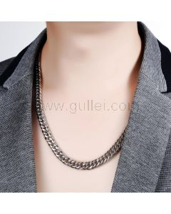 Miami Cuban Thick Chain Necklace for Men Stainless Steel